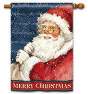 Waiting for Santa House Flag - 2 Sided Message