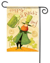 "St. Patrick's Day Garden Flag - Size: 13"" x 18"" - 2 Sided Message"