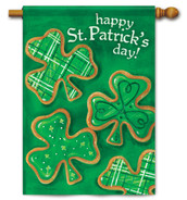 "Shamrock Cookies House Flag 28"" x 40"" - 2 Sided Message"