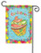 Glitter Accented Cupcake Garden Flag by Flag Trends