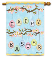 "Easter Eggs House Flag 28"" x 40"" - 2 Sided Message"