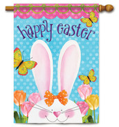 "Easter Ears House Flag 28"" x 40"" - 2 Sided Message"
