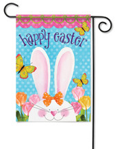 "Easter Ears Garden Flag 13"" x 18"" - 2 Sided Message"