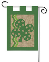 Shamrock Burlap Garden Flag by Evergreen