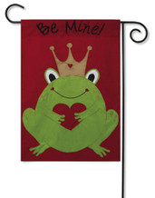"Be Mine Applique Garden Flag - Size 12.5"" x 18"" - 2 Sided Message"