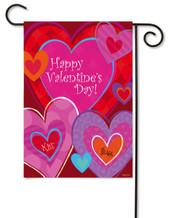 """Love Valentine's Day Glitter Garden Flag - 12.5"""" x 18"""""""