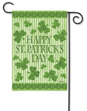 "Happy St. Patrick's Day! Garden Flag - 12.5"" x 18""- 2 Sided Message"