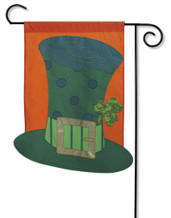 St. Pat's Glitter and Sequins Applique Garden Flag by Evergreen