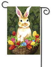 Flag Trends Rabbit With Flowers Garden Flag