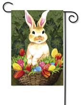 Flag Trends Rabbit With Flowers Garden Flag