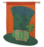 "Luck of the Irish Deluxe Applique St. Patrick's Day House Flag - 29"" x 43"""