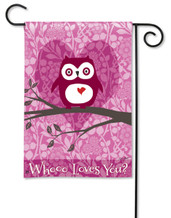 "Who Loves You Valentine Garden Flag - 12.5"" x 18"""