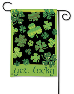 Breeze Art Shamrocks St. Pat's Day Garden Flag