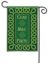 Cead Mile Failte Irish Garden Flag by Breeze Art