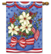 "American Beauty Patriotic House Flag - 28"" x 40"""