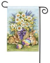 Breeze Art Easter Bunnies And Eggs Garden Flag