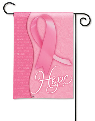 Pink Ribbon Breast Cancer Hope Garden Flag