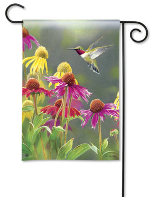 Breeze Art hummingbird decorative garden flag