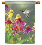 Breeze Art hummingbird decorative house flag