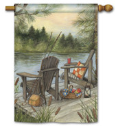 Breeze Art lake scene decorative house flag