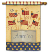 "Land That I Love Patriotic House Flag - 28"" x 40"""