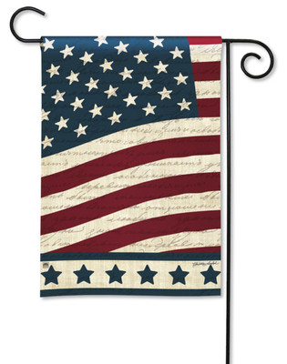 Liberty Garden Flag With Star Border by Breeze Art