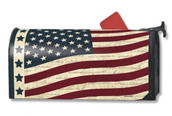 Folk art flag patriotic Mailwrap Mailbox Cover