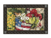 Patriotic Pail Doormat by MatMates