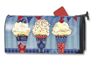 Patriotic scoops of ice cream Mailwrap Mailbox Cover