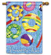 "Summer Fun BreezeArt House Flag - 28"" x 40"" - 2 Sided Message"