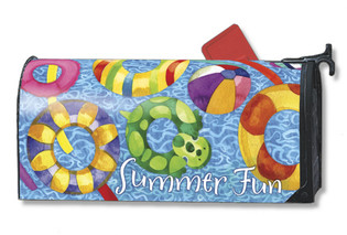 Pool party summer fun Mailwrap Mailbox Cover