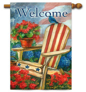 "Patriotic Bluebird House Flag - 29"" x 43"""
