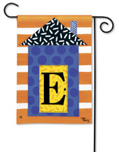 "Monogram House Party  Garden Flag - Letter E - 12.5"" x 18"""