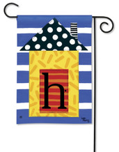 "Monogram House Party  Garden Flag - Letter H - 12.5"" x 18"""