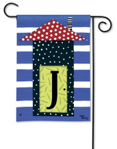 "Monogram House Party  Garden Flag - Letter J - 12.5"" x 18"""