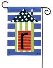 "Monogram House Party  Garden Flag - Letter R - 12.5"" x 18"""