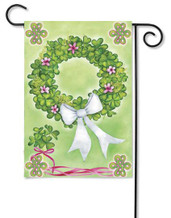 Wreath of Shamrocks Garden Flag by Premier