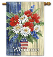 "Patriotic Bouquet Toland House Flag - 28"" x 40"""