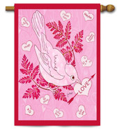 "Love Bird Toland Valentine's Day House Flag - 28"" x 40"""