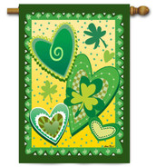 Hearts and Clovers Toland St. Pat's House Flag