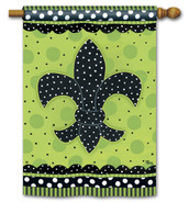 Fleur de Lis House Flag by Breeze Art
