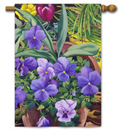 Toland spring pansies house flag.