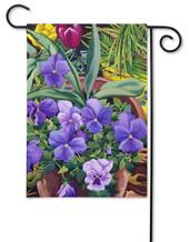 Toland pansies garden flag.