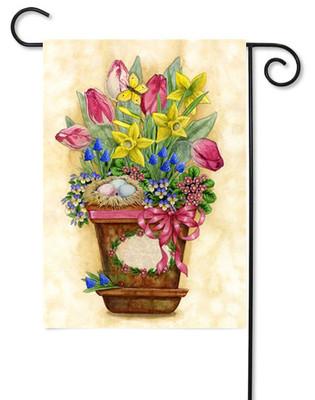 Toland spring garden flag