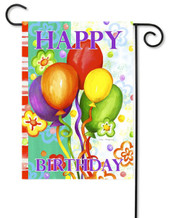 Happy birthday garden flag by Toland