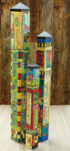 Garden Art Poles - Set of 3