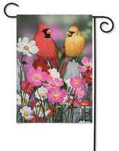 "Picket Friends Garden Flag - 12.5"" x 18"" - 2 Sided Design"