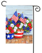 Pansies garden flag by Toland