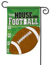 Football applique garden flag