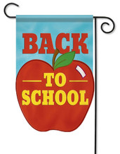 Back to school applique flag